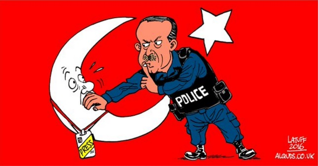 Erdogan_Cencorship-Press Author Carlos Latuff