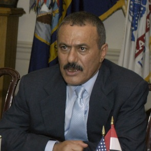 President Ali Saleh at the Pentagon on June 8, 2004 photo by Helene C. Stikkel