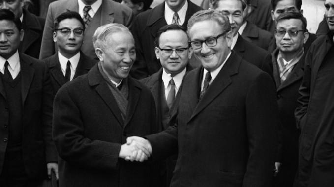 Le Duc Tho Greets Henry Kissinger