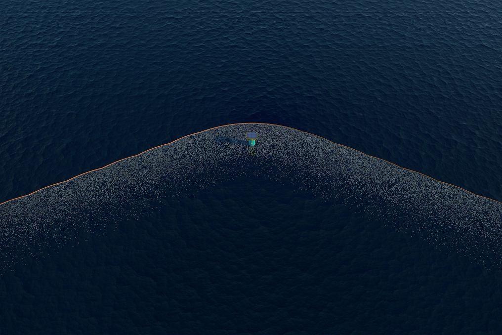 z20489272IH,Bariera-ktora-zbiera-smieci-fot-The-Ocean-Cleanup